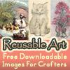 reusable art vintage image