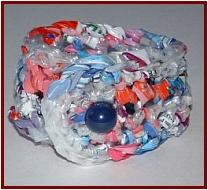 plastic bag bracelet