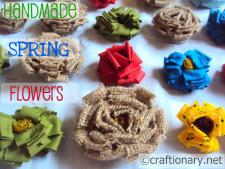 burlap flower tutorial by craftionary