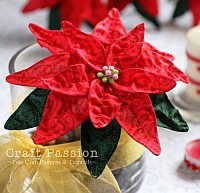 craftpassion fabric poinsettia flowers
