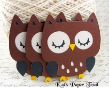 die cut owls from kats paper trail