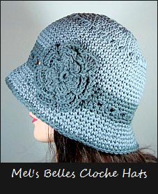 mels belles cloche hats