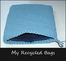 my recycled bags pot holder craft tutorial