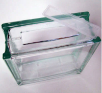 glass block with rectangular hole