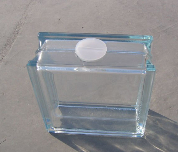 glass block with round hole
