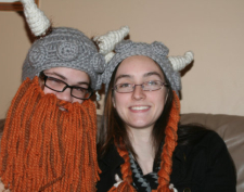 Crochet Viking hat by The Hollie Bearries