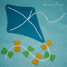 kite applique pattern by wee folk art